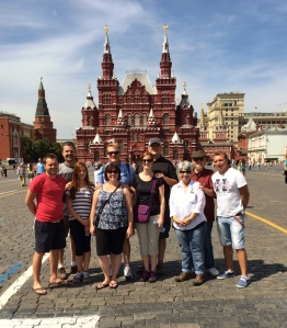 Whole group in Red Square